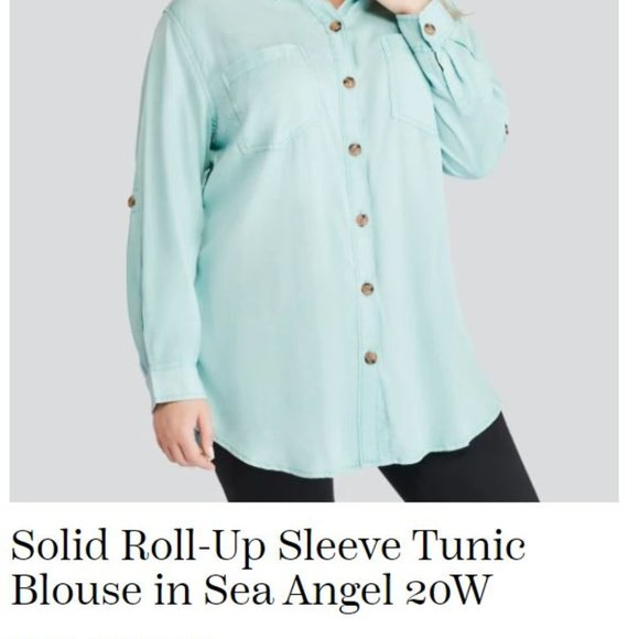 Love and Legend Long Sleeve Button Down Blouse